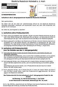 Realschule-Hoechstadt.Anmeldung.Elterninfo